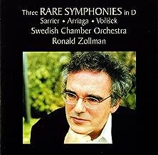 Sarrier - Arriaga - Vořišek: 3 Rare Symphonies in D