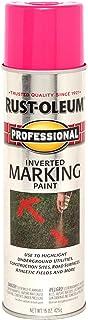 Rust-Oleum 255641 Professional Inverted Marking Spray Paint, 15 oz, Fluorescent Pink