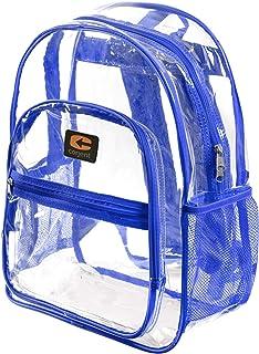 "Strong-Heavy Duty Clear School Backpack, Reinforced Padded Straps &""Bonus LED Flashlight"""