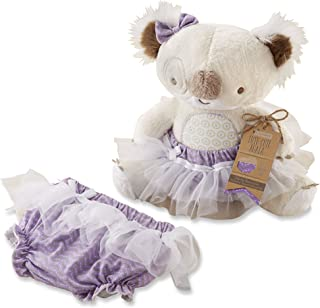Baby Aspen Tutu Cute Koala Plush Plus Bloomer for Baby, Beige/Multi, 0-6 Months