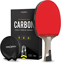 PRO SPIN Elite Series Carbon Ping Pong Paddle | Performance-Level Table Tennis Racket with Carbon Fiber Technology, Bonus Premium Rubber Protector | Professional Table Tennis Paddle