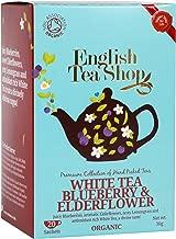 English Tea Shop White Tea Blueberry and Elderflower Tea Bags, 30 Gram (Pack of 6)