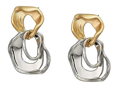 Rebecca Minkoff Organic Metal Drop Earrings (Gold/Silver) Earring
