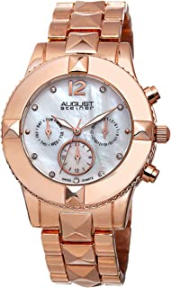 August Steiner Womens Quartz Watch, Analog Display and Stainless Steel Strap