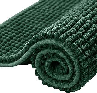 subrtex Bathroom Rugs Chenille Soft Short Plush Bath Mat Non-Slip Water Absorbent Shower Mat Quick Dry Machine Washable(Ce...