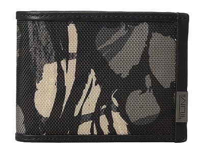 Tumi Alpha Double Billfold (Grey Highlands Print) Bill-fold Wallet