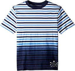 Ombré Striped Cotton T-Shirt (Big Kids)
