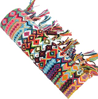 SOTOGO 16 PCS Nepal Weaving Friendship Bracelet Geometric Pattern Braided Bracelet for Girls Women Bracelet