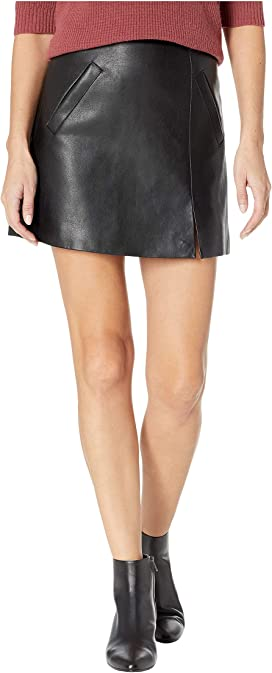 4da1cd4b4f Blank NYC Black Coated Mini Skirt in Spartacus at Zappos.com