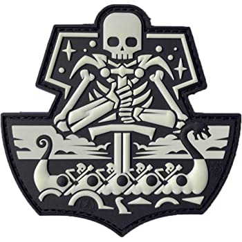 Jackets To Go Jtg Viking Ghostship Skull 3d Pvc Patch Badge Blackops Küche Haushalt