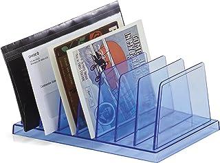 OfficemateOIC Blue Glacier Standard Sorter, 7 Compartments, Transparent Blue (23214)