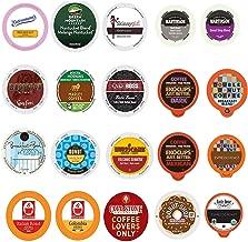 Custom Variety Pack Coffee , Single Serve Cups for Keurig K Cup Brewers, 20 count