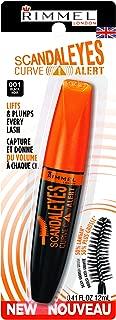 Rimmel Scandaleyes Curved Brush Mascara, Black, 0.41 Fl Oz (Pack of 1)