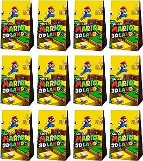 Lot de 24 sacs en papier pour bonbons, Super Mario petits sachets de bonbons Idéal pour la fête d'anniversaire, fête préna...