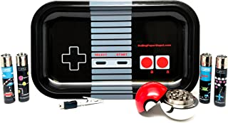 Bundle - 7 Items - Rolling Paper Depot Tray (Controller), Clipper Lighter Video Games Collection, Pokeball Grinder and Controlla Clip For PS4 or XBOX1