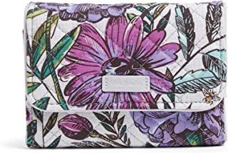 Vera Bradley womens Iconic Rfid Riley Compact Wallet, Signature Cotton