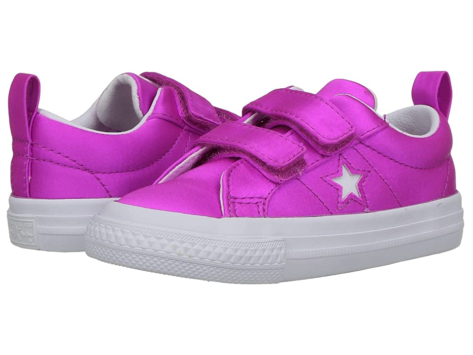 Converse Kids One Star Ox (Infant/Toddler) (Hyper Magenta/White/White) Girls Shoes