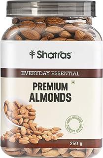 Shatras Premium Almonds | Gluten Free, Non-GMO & Vegan | Quality Badam (500 Gram)