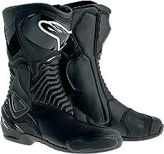 Alpinestars SMX-6 Men's Motorcycle Street Boots Vented (Black, EU Size 37)