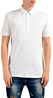 Collection Men's White Short Sleeve Polo Shirt US L IT 52