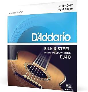 D'Addario EJ40 Cordes en soie/acier pour guitare folk 11-47