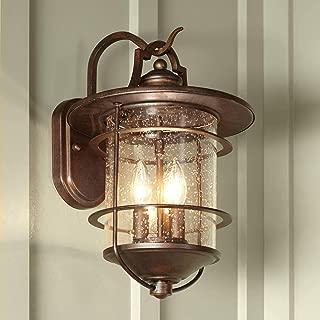 Casa Mirada Industrial Rustic Outdoor Light Fixture Bronze 16 1/4