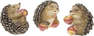 Darice Fairy Garden Animals, Miniature Hedgehogs Eating Apples, Assorted (1 Piece per package)