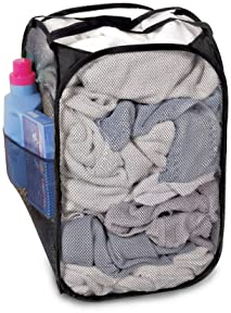 """Lot of 2 Bajer Collapsible Laundry Hamper 21/"""" x 13/"""" x 13/"""" Mesh Clothes Pop Up"""
