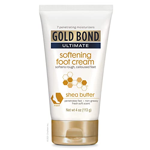Gold Bond Ultimate Softening Foot Cream With Shea Butter to Soften Rough & Calloused Feet, 4 oz.