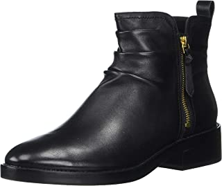 Cole Haan Women's Harrington Grand Slouch Bootie Ankle Boot, Black Leather, 7 B US