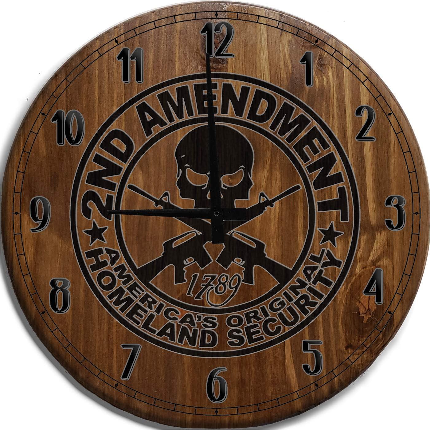 Mnk Max 60% OFF Large Wall Clock 24 Inch Amendment 2nd Original Seasonal Wrap Introduction America's Ho
