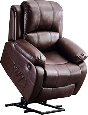 Mcombo Small Sized Electric Power Lift Recliner Chair Sofa with Massage and Heat for Small Elderly People Petite, 3 Positions