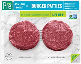 Pre, 85% Lean Burger Patties – 100% Grass-Fed, Grass- Finished, and Pasture-Raised Beef– 10.66oz. (2 pack)
