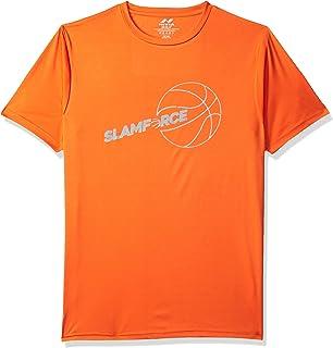 Nivia 2280-1 Nitro-4 Polyester Casual Round T-Shirt, XXL (Orange)