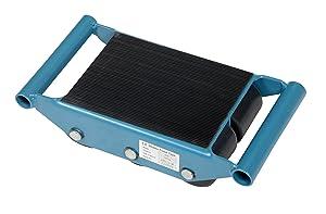 Vestil FMS-6 Fixed Machinery Skate with 6 Nylon Roller, Steel, 10-1/2