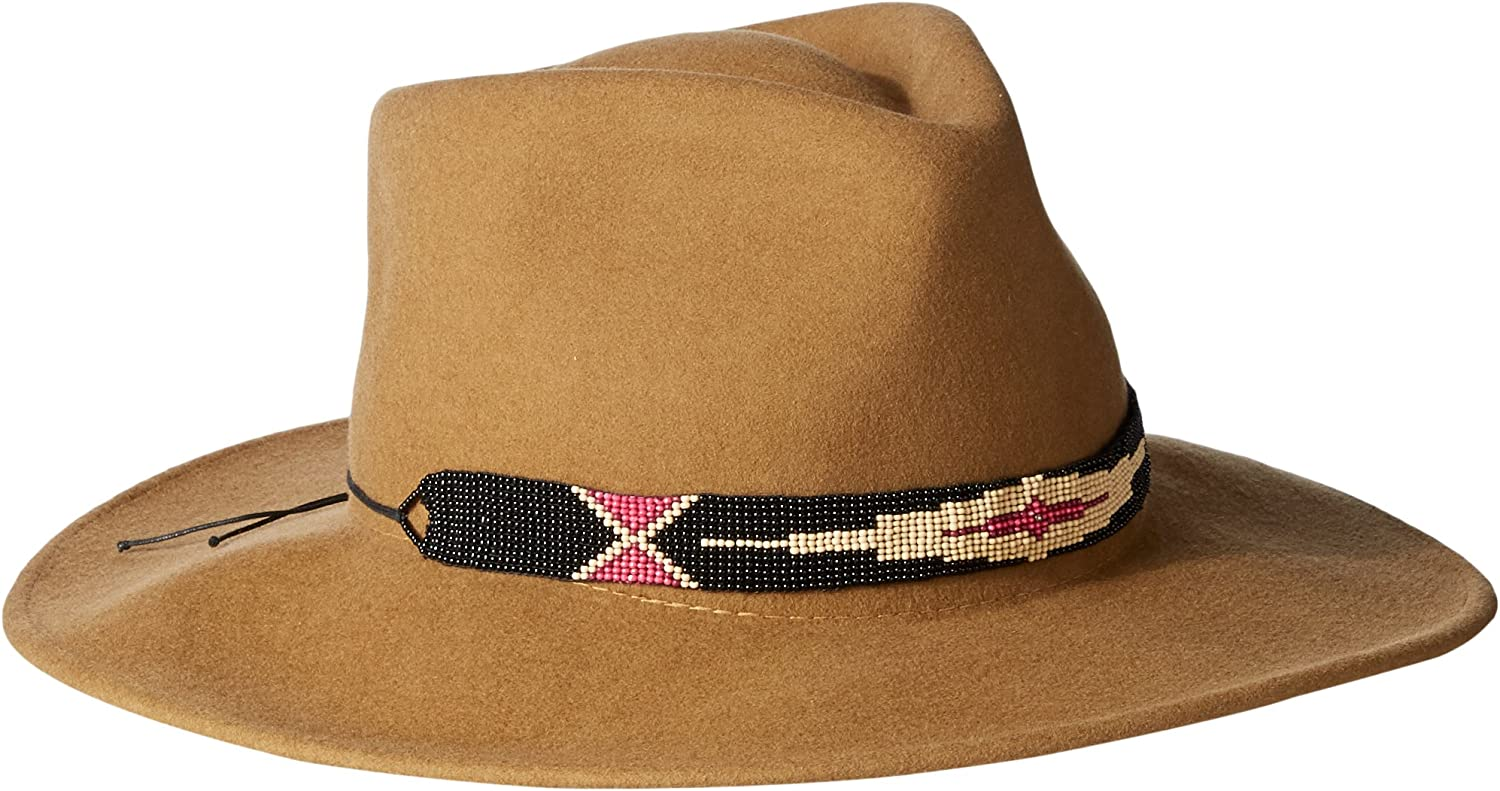 'ale by alessandra Women's Taos Adjustable Felt Hat with Beaded Trim