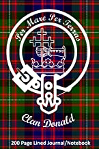 Clan Donald 200 Page Lined Journal/Notebook