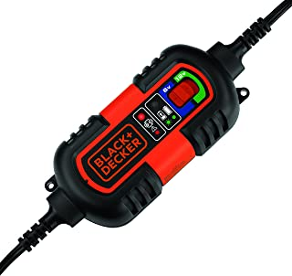 BLACK+DECKER BM3B Fully Automatic 6V/12V Battery Charger/Maintainer with Cable Clamps and O-Ring Terminals