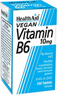 Health Aid Vitamin B6 (Pyridoxine HCl) 10mg 100 Tablets