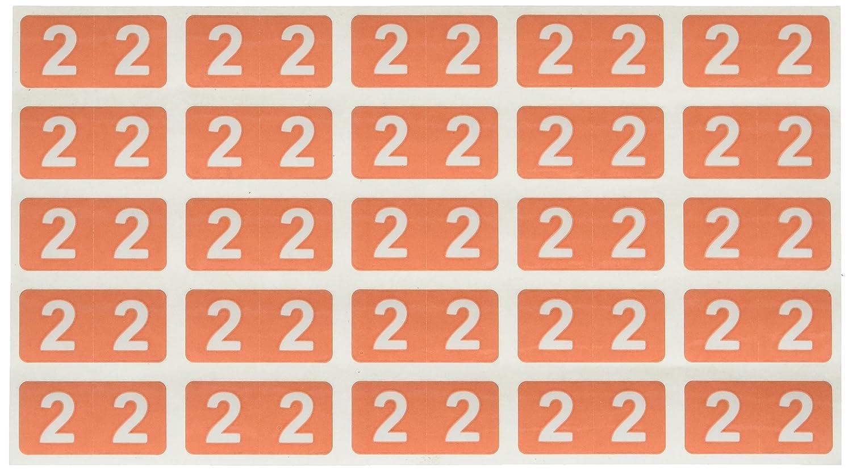 SMEAD COMPATIBLE ETSN-2 Etsn 35% OFF Color Numeri specialty shop Code Label Permanent