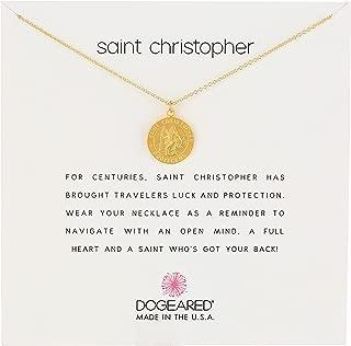 Dogeared Unisex Saint Christopher Travelers Reminder Necklace