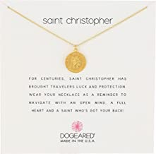 Dogeared Unisex Saint Christopher Travelers Reminder Necklace