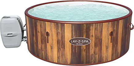 Lay-Z-Spa Helsinki Hot Tub, 180 AirJet Wood Effect Inflatable Spa with Freeze Shield Year Round Technology and Rapid Heati...