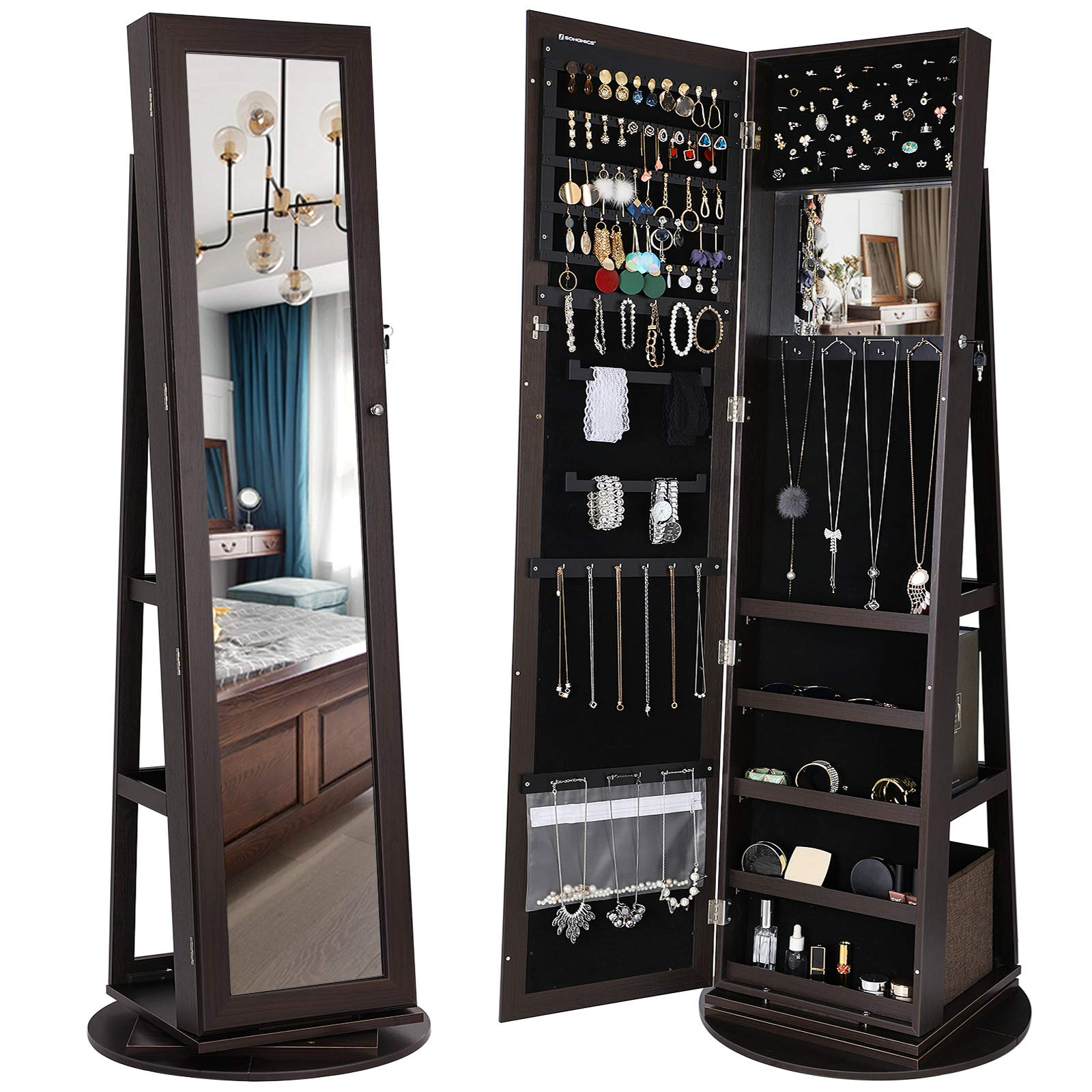 SONGMICS Rotatable Lockable Organizer UJJC62BR