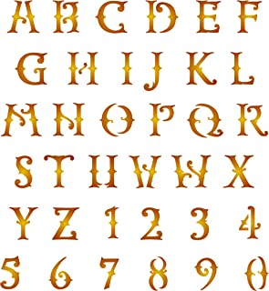 Western Letter Stencil, ¾ inch (S) - Letter Number ABC Alphabet Wall Stencils