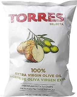 Torres Selecta Potato Chips, 100% Extra Virgin Olive Oil, 150g