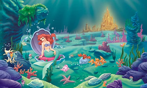 RoomMates Disney Princes The Littlest Mermaid Removable Wall Mural 10 5 Feet X 6 Feet