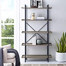 Home Accent Furnishings New 68 Inch Tall Urban Pipe Bookshelf in Driftwood Finish