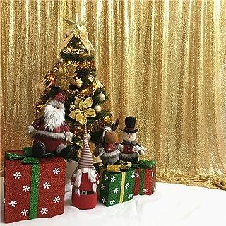 TRLYC 5ft x 9ft Pailletten Hintergrund Stoff Party Hochzeit Photo Booth Hintergrund, Sonstige, Gold, 5ft*9ft Sequin Backdrop
