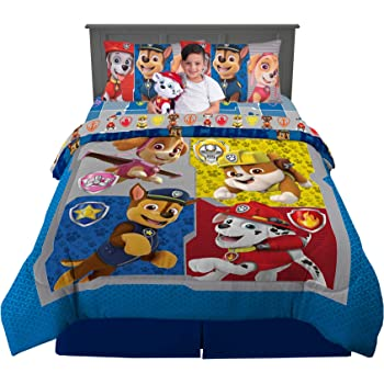 Amazon.com: Nickelodeon Paw Patrol Super Soft Kids Bedding Set, 6